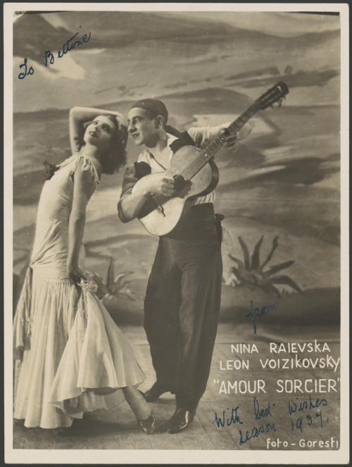 Nina Raievska and Leon Woizikowsky in Amour Sorcier, Monte Carlo Russian Ballet, 1936 (by National Library of Australia Commons)