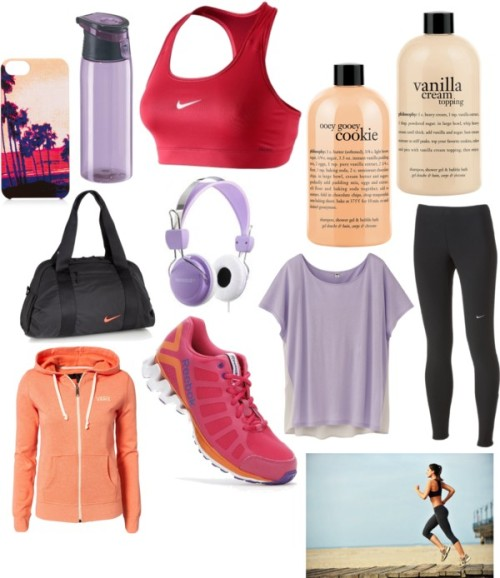 polyvore-fitness:  Run. by fitness-polyvore featuring a short sleeve t-shirt