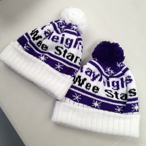Kayleigh's Wee Stars custom Pom Pom beanies #merchasylum #screenprint #printing #screenprinting #tshirtprinting #highquality #uk #wales #southwales #cardiff #embroidery #fashion #pompom #beanies #vinyl #stickers #relabelling #detagging #cutandsew #customprints #print #ink
