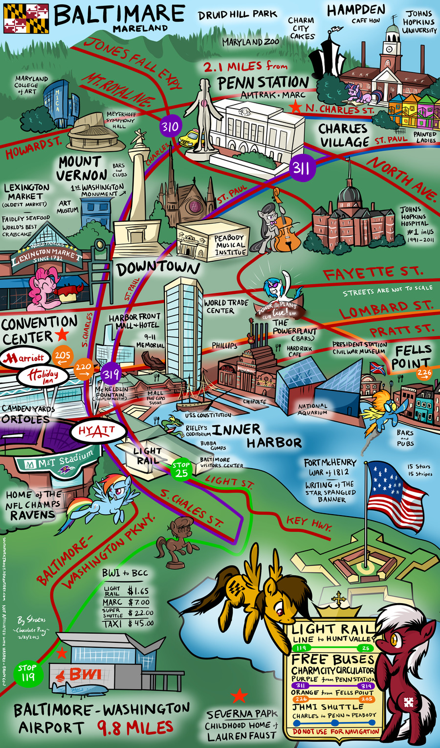 """The Brony's Map of Baltimare"" by ~SouthParkTaoist"