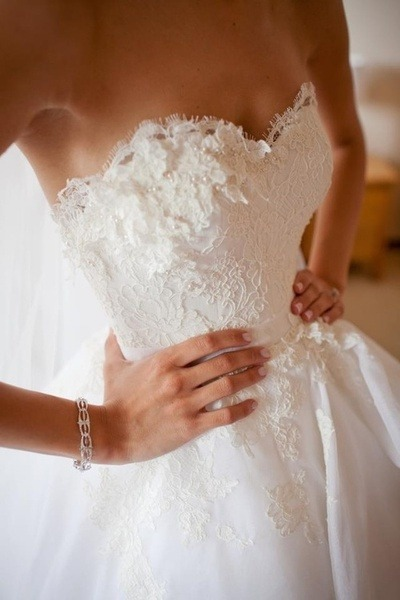 Beautiful details. Lace, some beads. so pretty.