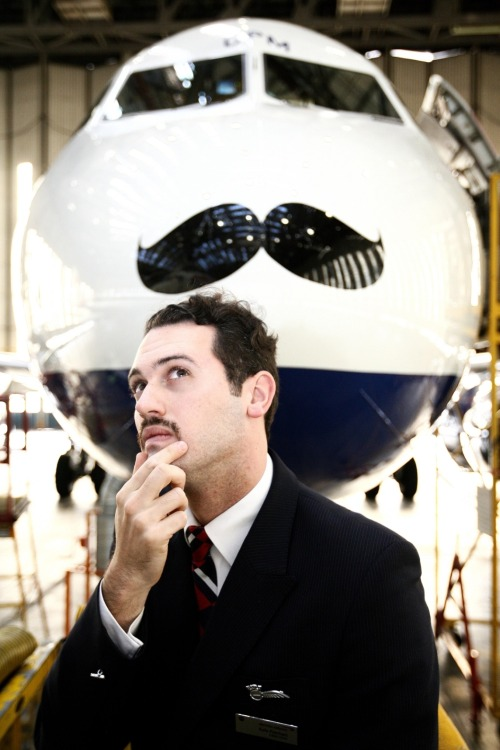 A moustached Airbus A319 was unveiled by British Airways cabin crew member Kyle Patchett in November 2012 to represent his  and his fellow colleagues support for Movember.  The airline is encouraging its employees to join the campaign and is hosting a number of road shows around the business to educate them on health issues. [X]