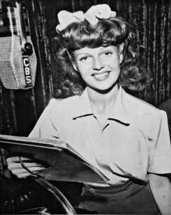 Rita on the radio! C. 1942.