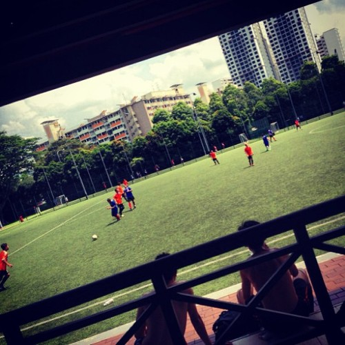 Match day live! :p (at Football & Futsal @ St. Wilfrid Sports Complex)