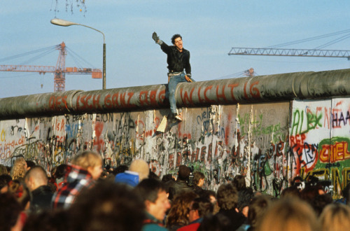 Fall of the Berlin Wall, Germany, 1989. Photo by Peter Turnley