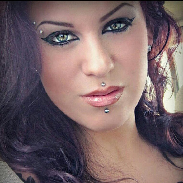 Feeling soo….blahh =// #makeup #eyes #piercings #beauty # hair #love