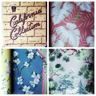 Great #textile or #graphic #design reference! #Vintage #1940s #Wallpaper Sample Book by thevintagelaundry  via @Etsy (at The Vintage Laundry)