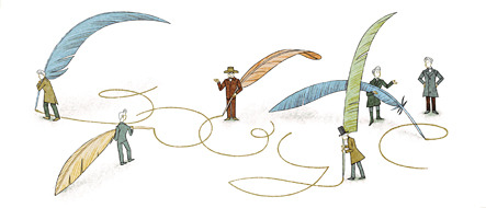 Google celebrates the 200th birthday of Søren Kierkegaard, a Danish philosopher, theologian, poet, social critic, and religious author. (via Google)
