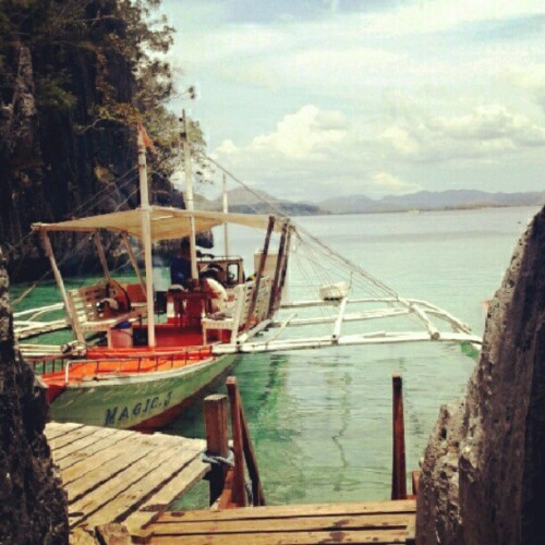 On our way to Barracuda Lake! #coron #travel #philippines