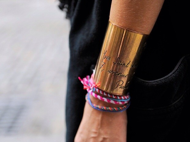 BAUBLE OF THE DAY YSL hand cuffs… not bad! source: apieceoftoastblog.com