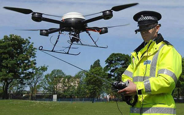 "thepeoplesrecord:  Woops! Police drone crashes into police…May 13, 2013 The Montgomery County (Texas) Sheriff's Office had a big day planned. After becoming the first department in the country with its own aerial drone ($300,000!), they were ready for a nice photo op. And then the drone crashed into a SWAT team. The Examiner reports a painfully contrived police action-athon:  As the sheriff's SWAT team suited up with lots of firepower and their armored vehicle known as the ""Bearcat,"" a prototype drone from Vanguard Defense Industries took off for pictures of all the police action. It was basically a photo opportunity, according to those in attendance.  ""Lots of firepower"" and a ""Bearcat"" sure sounds like a good photo op. OK, time to launch the $300,000 drone. Here we go. Launch the drone:  ""[The] prototype drone was flying about 18-feet off the ground when it lost contact with the controller's console on the ground. It's designed to go into an auto shutdown mode…but when it was coming down the drone crashed into the SWAT team's armored vehicle.""  Not only did the drone fail, and not only did it crash, it literally crashed into the police. It's no wonder we're not able to find a video of this spectacular publicity failure. Luckily, the SWAT boys were safe in their Bearcat. This would be a fine one-off blooper story if it weren't for some upsetting implications. This is exactly why we have reason to raise multiple eyebrows at Congress, which wants to allow hundreds of similar drones to fly over US airspace. These drones are still a relatively young technology, relatively unproven, and relatively crash-prone. The odds of being hit by one are low, of course, but should a Texas-style UAV plummet ever happen in, say, a dense urban area, nobody would be laughing. Not all of us are driving around in Bearcats. Source"