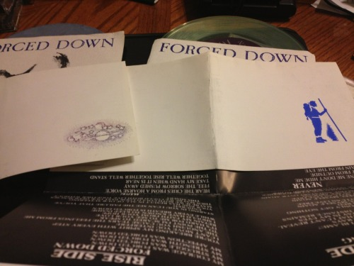 Mike Down had the most random badass stamps. Same Forced Down record, different inserts.