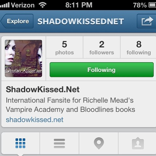 Follow @ShadowKissedNet, the #VampireAcademy Fansite that I work for :)