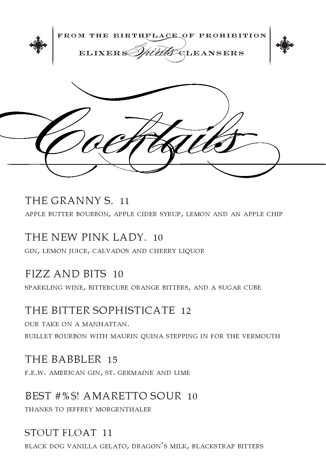 A New Year calls for new cocktails! Check out some of our latest creations from behind the bar at the Found.