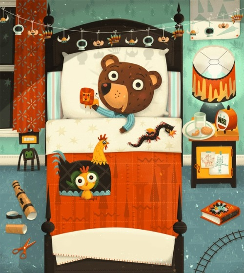 storypanda:  Bed time for bear | Illustration by Steve Simpson @SteveSimpson