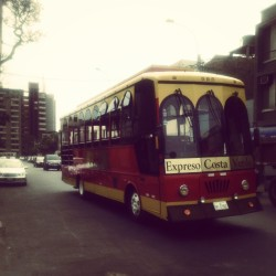 #england #bus in #lima looks like a #toy #red
