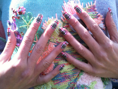 theillustratednail:  Summer pastel check…
