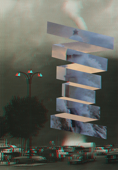 mowgliomari:  ≡ 3D (by Mowgli Omari) Three new Anaglyph 3D collages to come over this weekend. Get your glasses out and let me know what you guys think! ΛλOWGLI Tumblr | Flickr