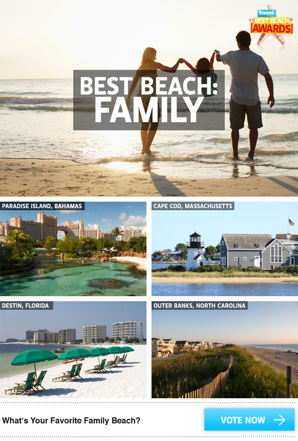 VOTE HERE to choose your favorite family beach in the Best Beach Awards 2013!