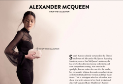 Styling Alexander McQueen for Lane Crawford