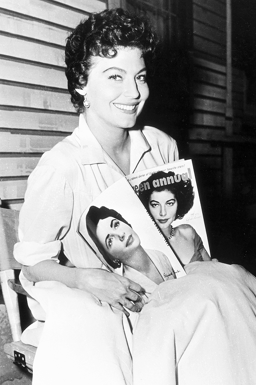 msmildred:  Ava Gardner on the set of the film 'Ride, Vaquero!', c. 1953.