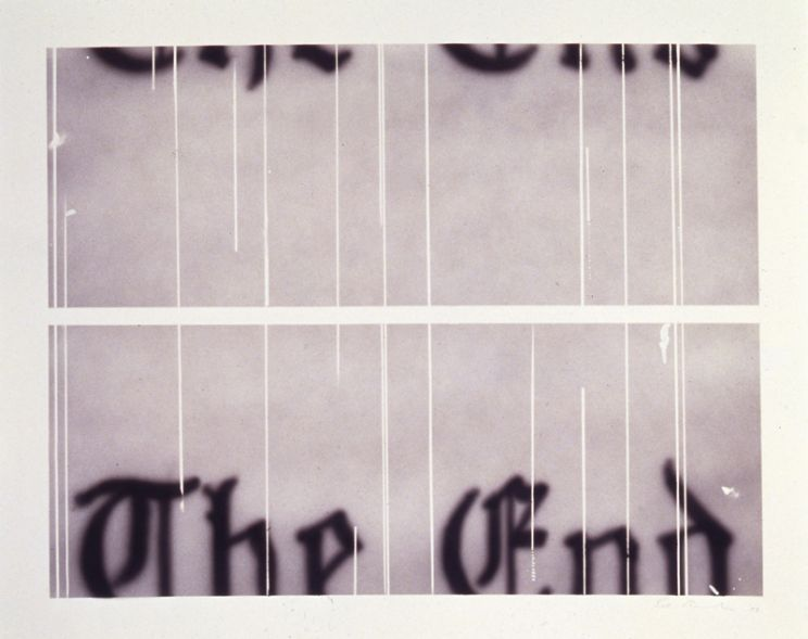 Edward Ruscha - The End #2, 1993