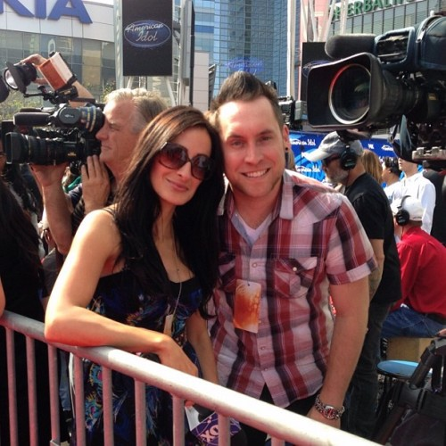 Wrong side of the carpet with @lizarist #idol #americanidol #redcarpet  (at American Idol Finale)