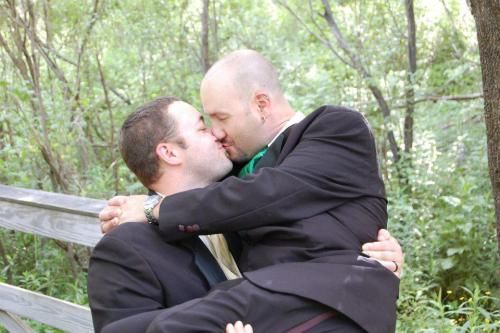 My husband and I at our wedding last June.