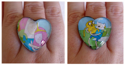 Adventure Time Heart Cameo Rings https://www.etsy.com/shop/CalamityJayneDesigns