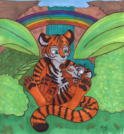 Made this for my wonderful friend's baby girl http://coji.deviantart.com - http://www.foxbeak.com