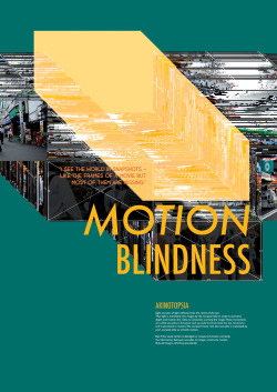 Motion blindness (also known as akinetopsia) is a rare neuropsychological dissorderin which a patient cannot perceive motion in their visual field, despite being able to see stationary objects without issue. For patients with akinetopsia, the world becomes devoid of motion.