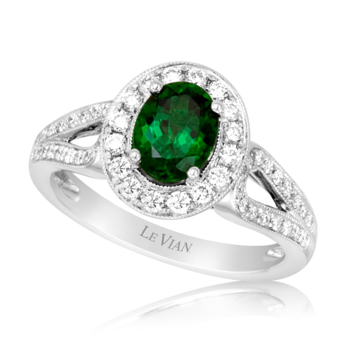 Emerald is the Birthstone for May! LeVian Emerald & Diamond Ring! @houstonjewelry