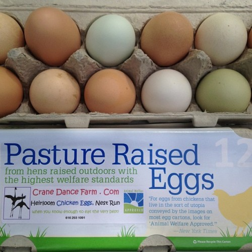 Time for breakfast. #CraneDanceFarms #Eggs #LocalFood #GrandRapids #Pastured #NoFilter