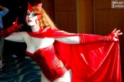 roxannameta:  cosplay-paradise:  Scarlet Witch  You mean TALLEST SILVER as Scarlet Witch!