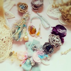 #lolitasummer #accessories #jewelry #flowers #pastel  Working on new items. Available at store soon~ www.facebook.com/lolitasummer