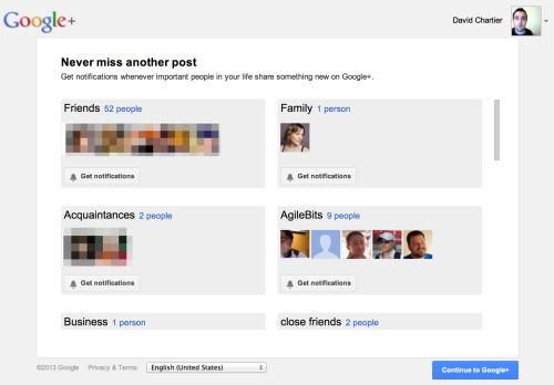 Google could try to look more desperate to increase Google+ usage, but it would have to start paying me  This is the page I was greeted with upon checking in on a couple Google+ friends today.