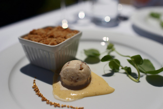 | ♕ |  Desserts at Peller Estates in Toronto  | by © Victor Shum Apple and Dried Cherry Crumble with Maple Pecan Ice Cream