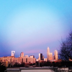 Nice morning in uptown Charlotte. (at CPCC Central Campus)