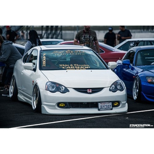 jaycrayroyalflush:  #royalflush #88rotors #thecarshop #importfashion #wheelhousetire #acura #rsx #stancenation - photo by: @jphoto220