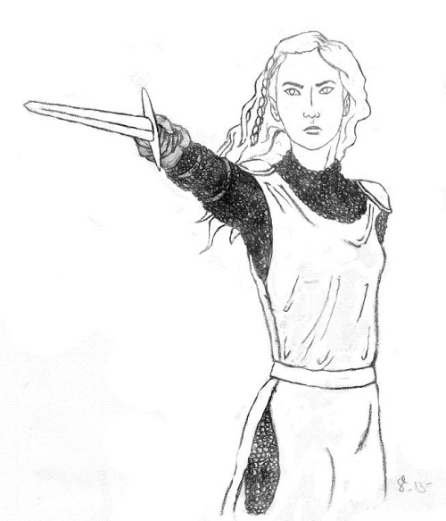"wollemisiss:  ""Idril at the siege of Gondolin"" - very preliminary sketch"