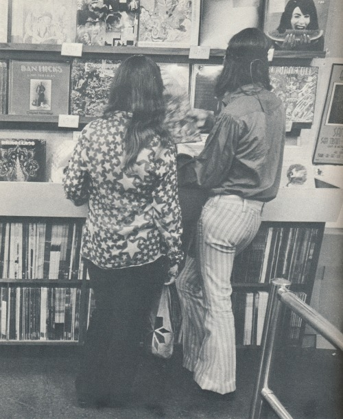 1960s record shopping. From The Free People by the Swedish photographer Anders Holmquist with an introduction by Peter Marin.  Published by Outerbridge & Dienstfrey, 1969. More from this book here.