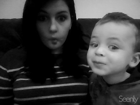 me and daniyel's little brother haha he's so cute