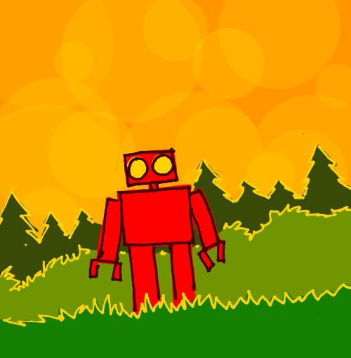 explodingdog:  Red Robot