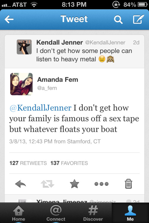 heyijustmeetyouandthisiscrazy:     My tweet to Kendall Jenner got way much more attention than it deserved hahaha