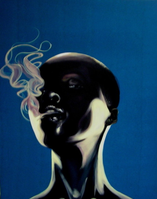 fuckyeablackart:  Smoke Scream by Addonis Parker