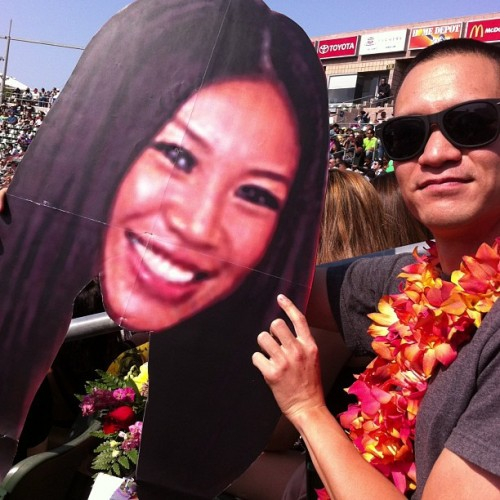 At seesters graduation :) (at The Home Depot Center)