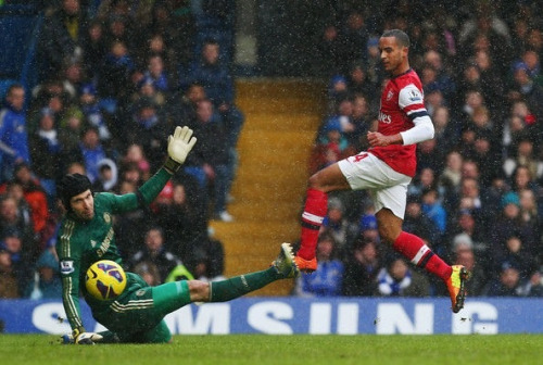 Walcott turning him self Into a world class striker.