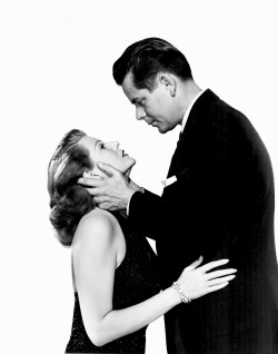 Rita Hayworth and Glenn Ford in promotion shot for  Affair In Trinidad (1952)