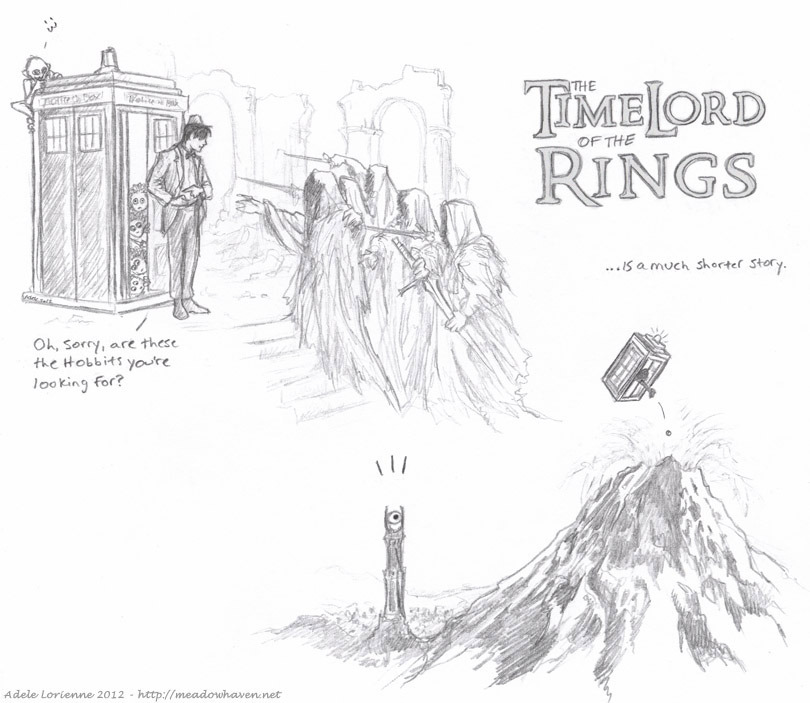 The TimeLord of the Rings                                  …is a much shorter story . . . . #Doctor Who #Artsy #coolstuff #funnystuff #geek  #MoviesandShows