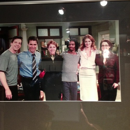 It was fun on set of will and grace 11years ago wow time passes